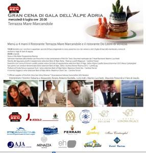 gran cena di gala dell'Alpe Adria def