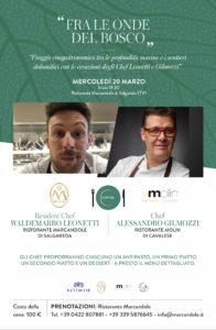 Serata terra e mare chef Leonetti e Gilmozzi - Ristorante Marcandole